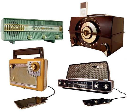 懐かしの真空管ラジオがiPhoneドッキングステーションとして蘇る / 3rian Radios