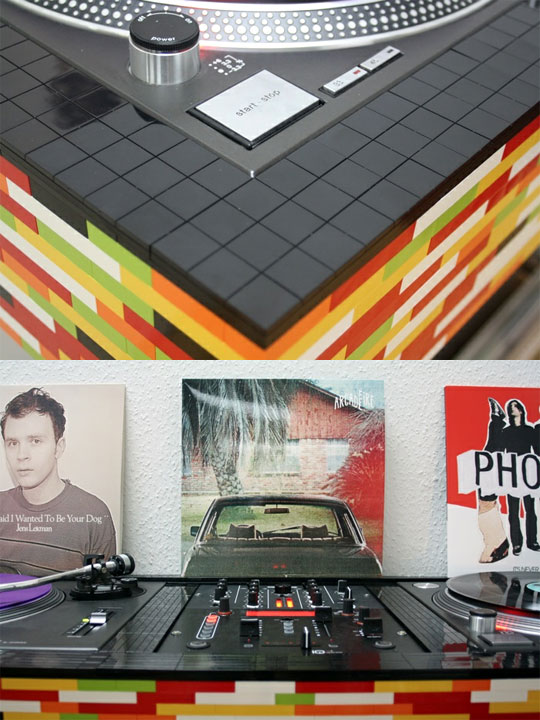 dj lego dj booth soft tempo records magazine. Black Bedroom Furniture Sets. Home Design Ideas