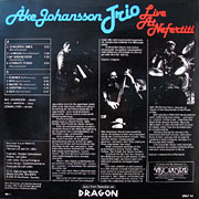 AKE JOHANSSON TRIO / Live At Nefertiti