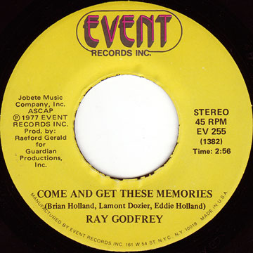 RAY GODFREY / Come And Get These Memories / I'm The Other Half Of You